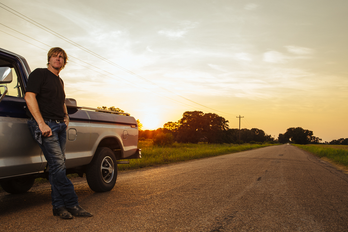 Photo of Jack Ingram by Truck with Sunset